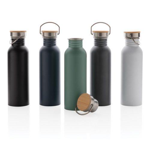 RVS Fles met bamboe deksel (6)