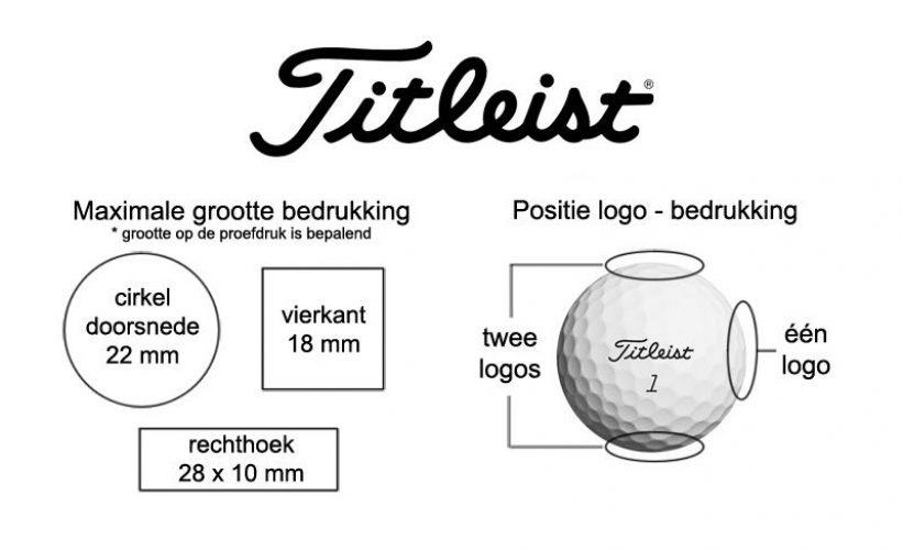 Titleist logo bedrukkingen